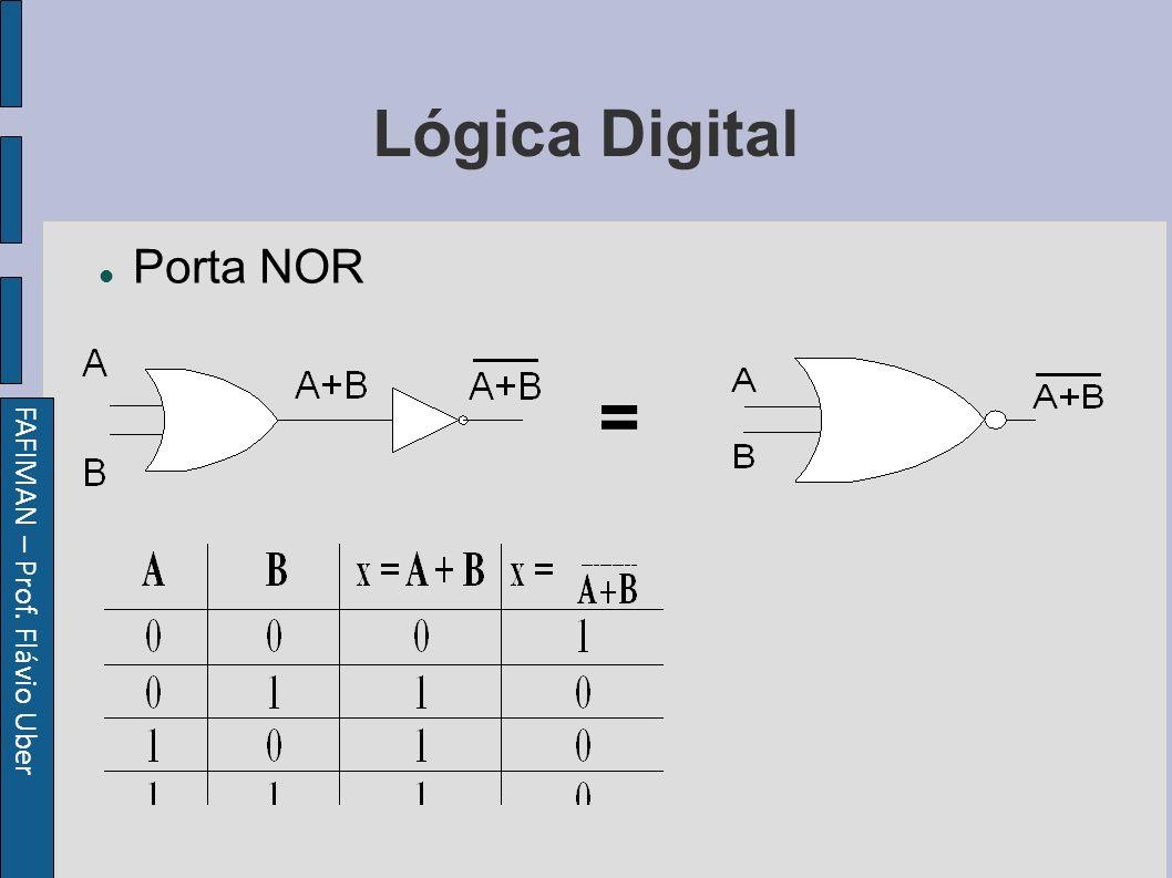 FAFIMAN – Prof. Flávio Uber Lógica Digital Porta NOR =