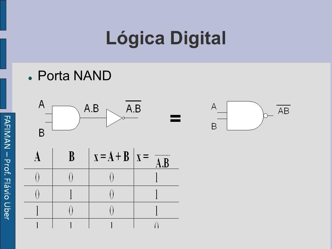 FAFIMAN – Prof. Flávio Uber Lógica Digital Porta NAND =