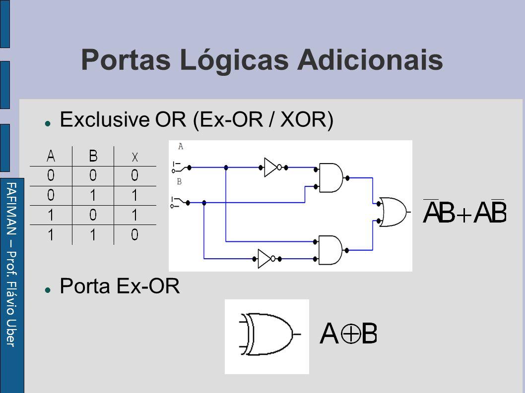 FAFIMAN – Prof. Flávio Uber Portas Lógicas Adicionais Exclusive OR (Ex-OR / XOR) Porta Ex-OR