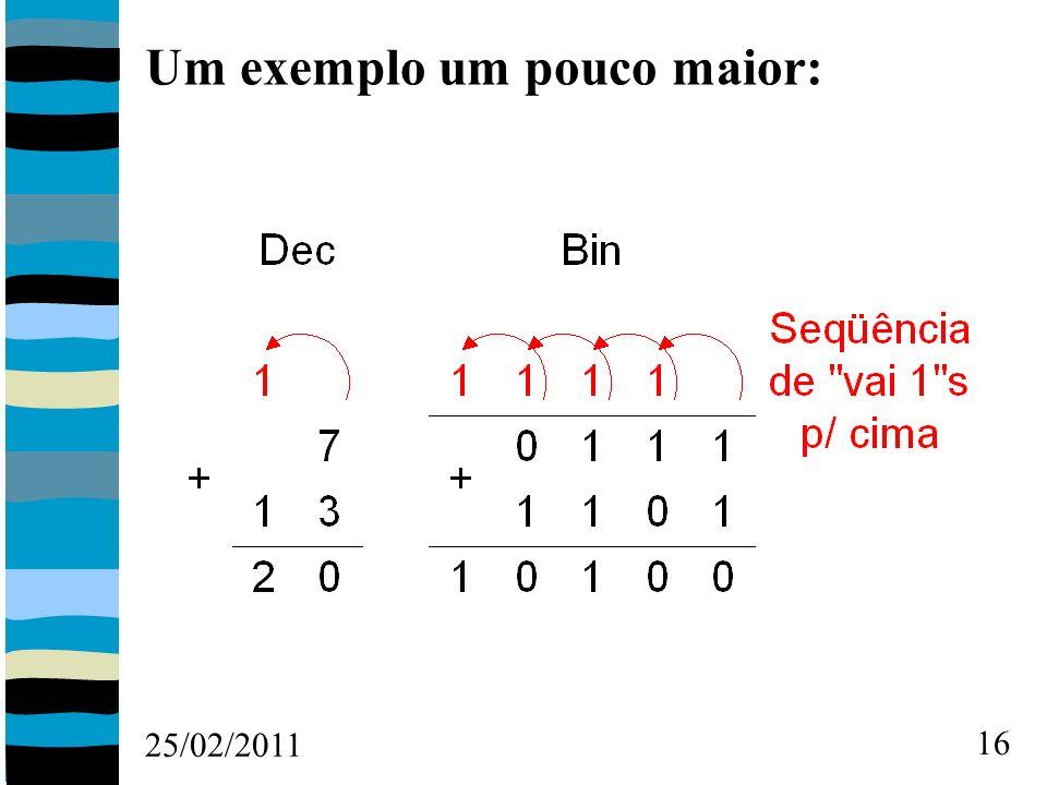 25/02/2011 16 Um exemplo um pouco maior: