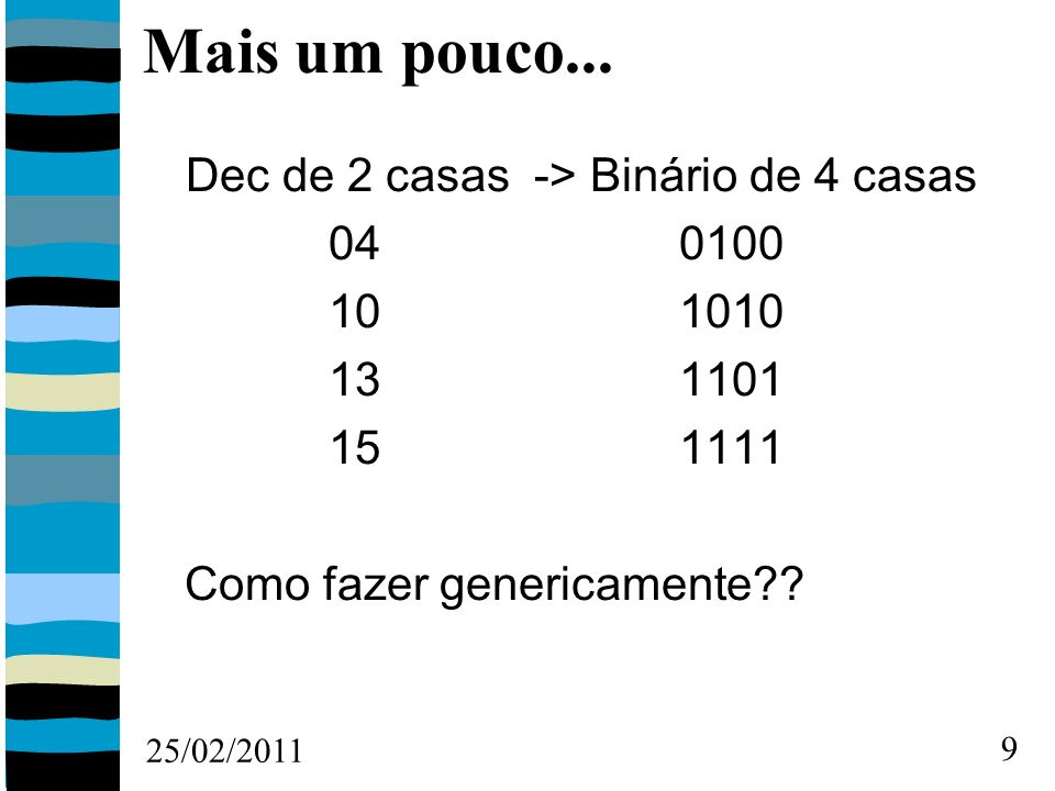 25/02/2011 30 Montando a Tabela Verdade: ABVESVS 00000 00111 01011 01101 10010 10100 11000 11111