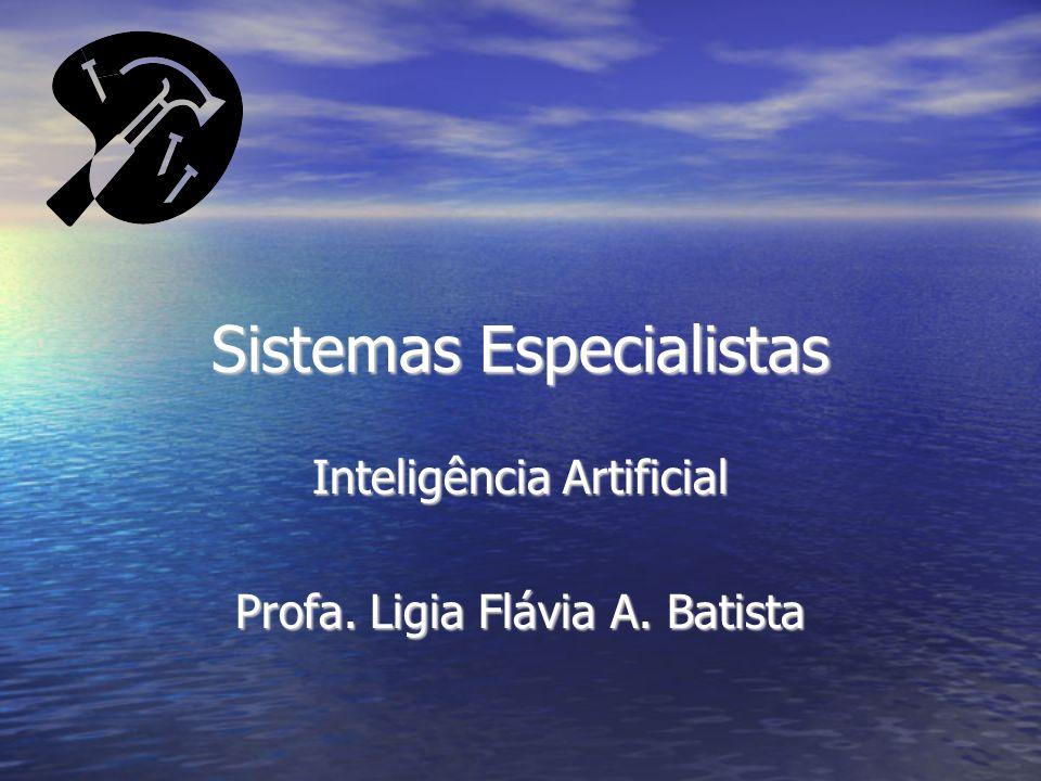 Sistemas Especialistas Inteligência Artificial Profa. Ligia Flávia A. Batista