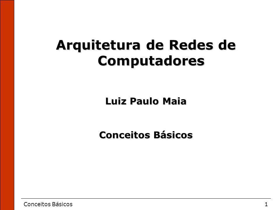 Conceitos Básicos1 Arquitetura de Redes de Computadores Luiz Paulo Maia Conceitos Básicos