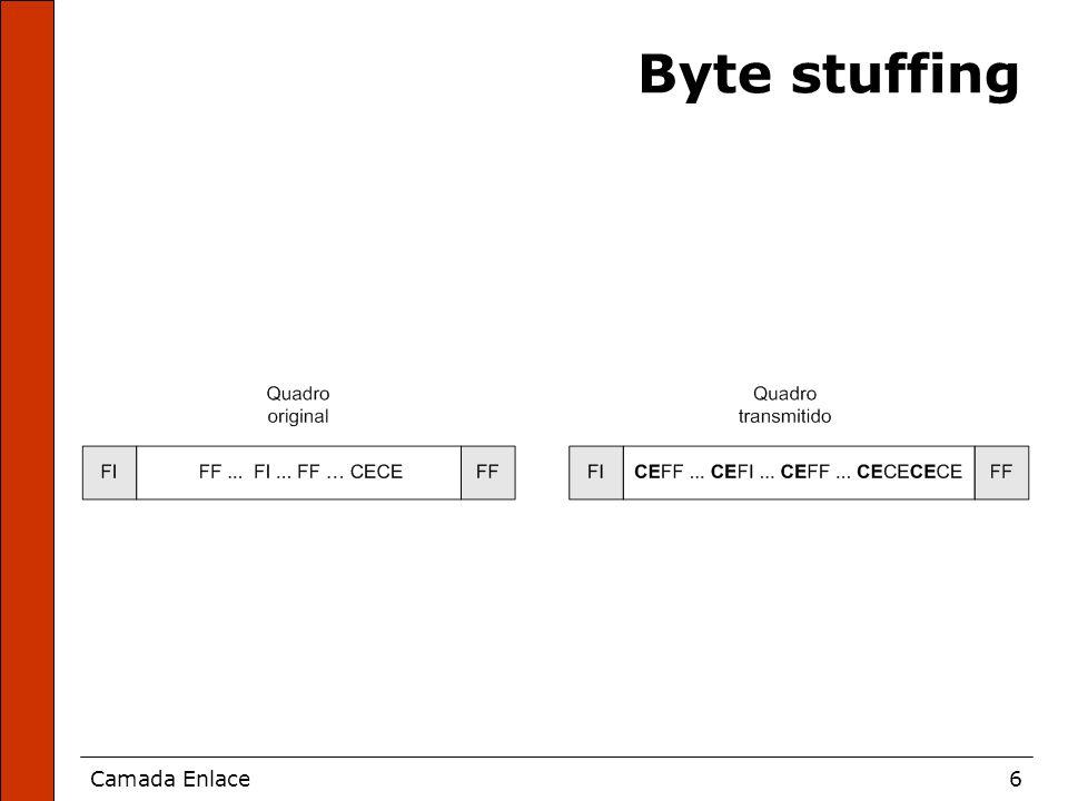 Camada Enlace6 Byte stuffing