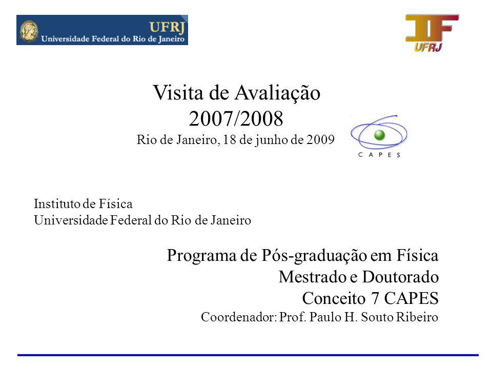 HISTÓRIA DO PROGRAMA Mestrado - Teve inicio em 1970 e foi credenciado em 1978 Dissertações defendidas entre 1970 e 2008 - 232 Doutorado – Teve inicio em 1979 e foi credenciado em 1983.