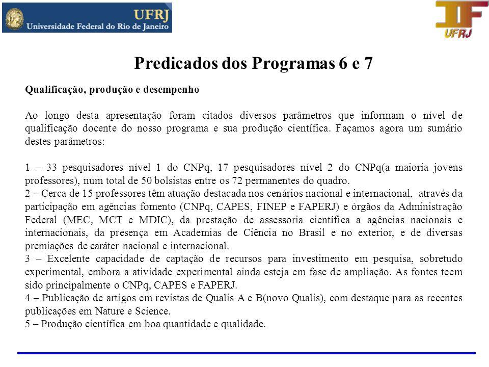 Resultados e avanços recentes(2009) - Avaliação do IF/UFRJ por uma comissão externa – planejamento estratégico e ocupação do novo prédio - PROINFRA da UFRJ tem as obras do IF como primeira prioridade.
