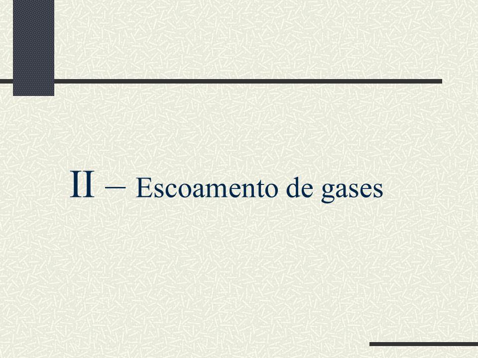 II – Escoamento de gases