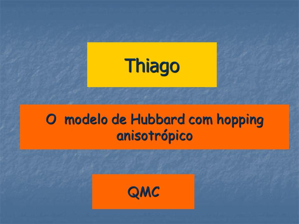 Thiago O modelo de Hubbard com hopping anisotrópico QMC