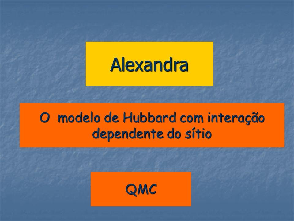 Alexandra O modelo de Hubbard com interação dependente do sítio QMC
