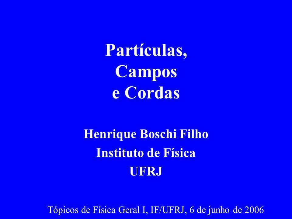 Partículas Teoria de Fermi (1934): Decaimento (força nuclear fraca) e descoberta do (anti) neutrino do elétron ( e )