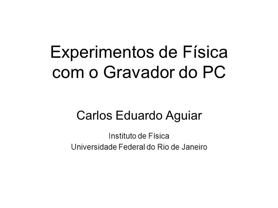 Experimentos de Física com o Gravador do PC Carlos Eduardo Aguiar Instituto de Física Universidade Federal do Rio de Janeiro