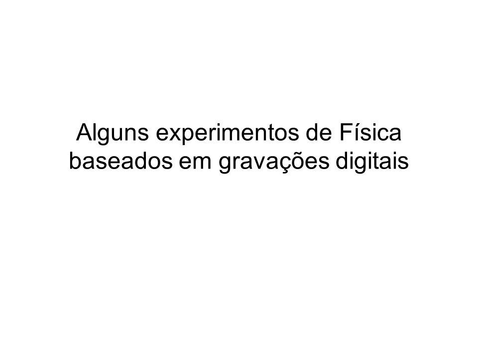 Alguns experimentos de Física baseados em gravações digitais