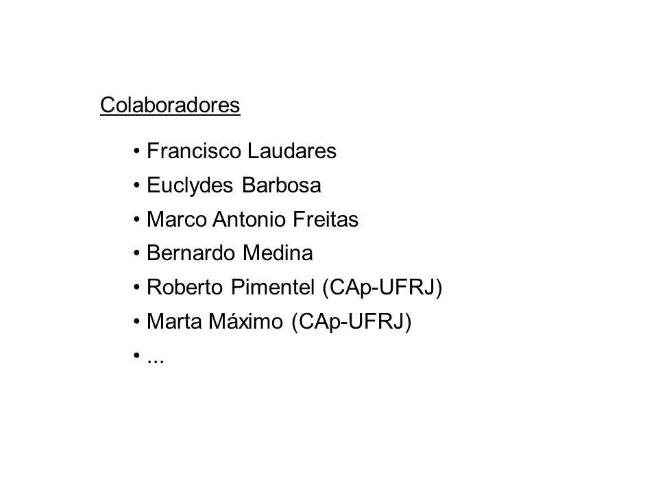 Colaboradores Francisco Laudares Euclydes Barbosa Marco Antonio Freitas Bernardo Medina Roberto Pimentel (CAp-UFRJ) Marta Máximo (CAp-UFRJ)...