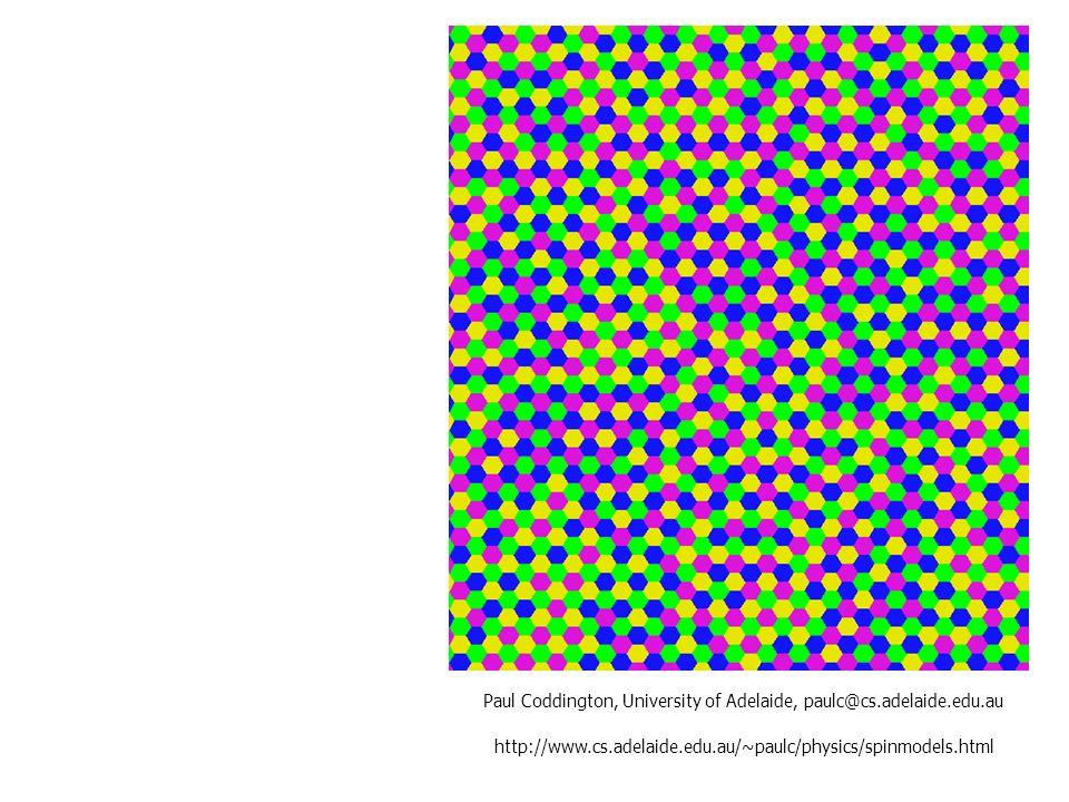 http://www.cs.adelaide.edu.au/~paulc/physics/spinmodels.html Paul Coddington, University of Adelaide, paulc@cs.adelaide.edu.au