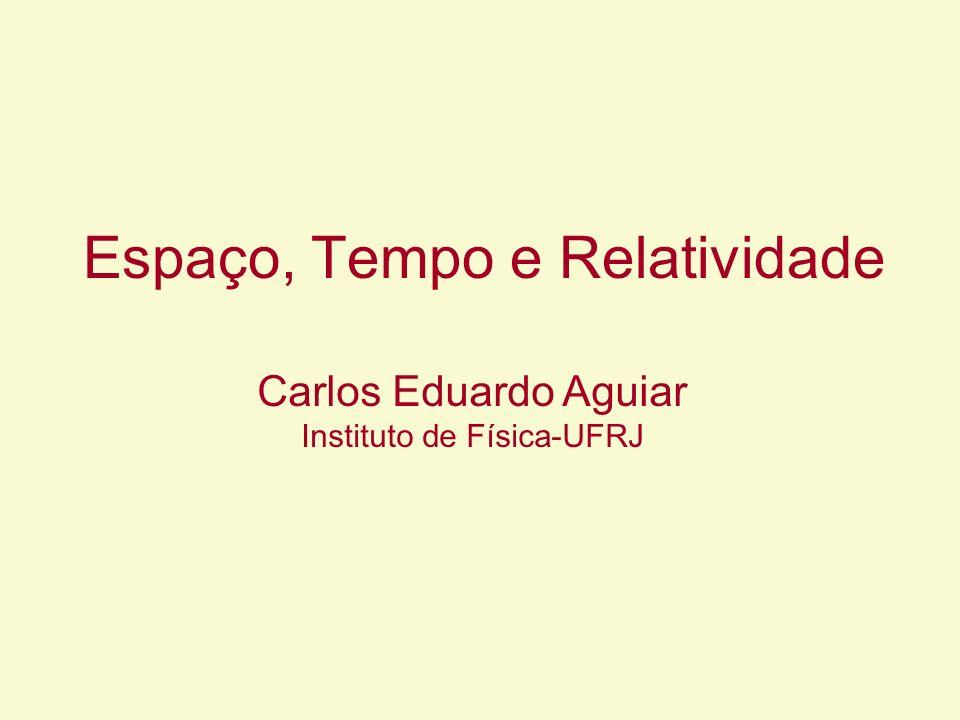 Espaço, Tempo e Relatividade Carlos Eduardo Aguiar Instituto de Física-UFRJ