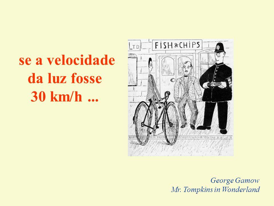 se a velocidade da luz fosse 30 km/h... George Gamow Mr. Tompkins in Wonderland