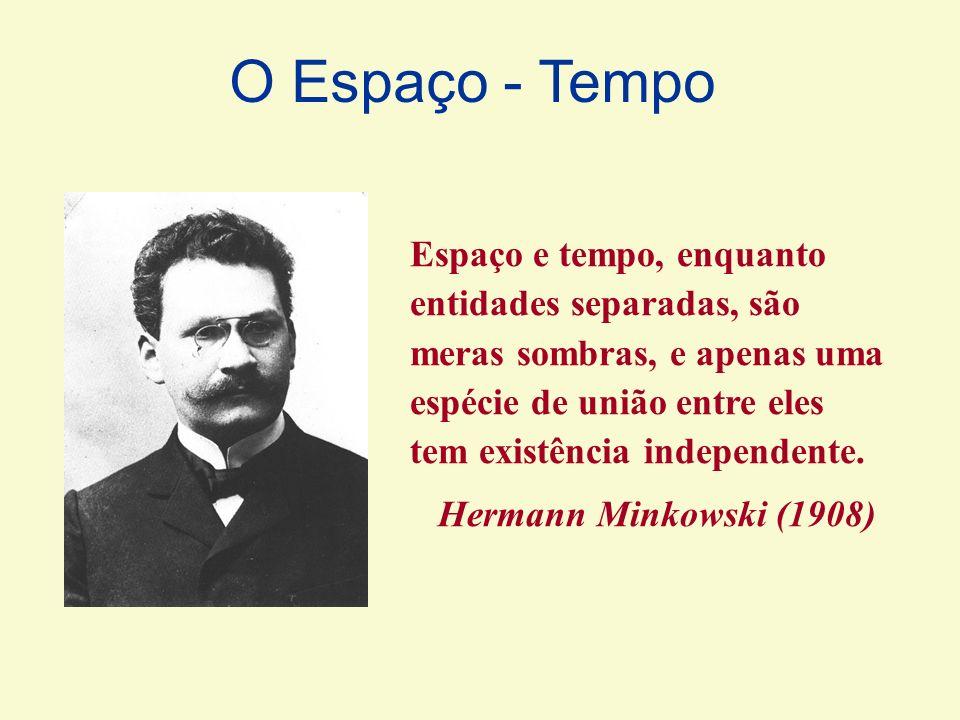 Espaço e tempo, enquanto entidades separadas, são meras sombras, e apenas uma espécie de união entre eles tem existência independente. Hermann Minkows