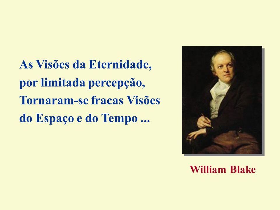 As Visões da Eternidade, por limitada percepção, Tornaram-se fracas Visões do Espaço e do Tempo... William Blake