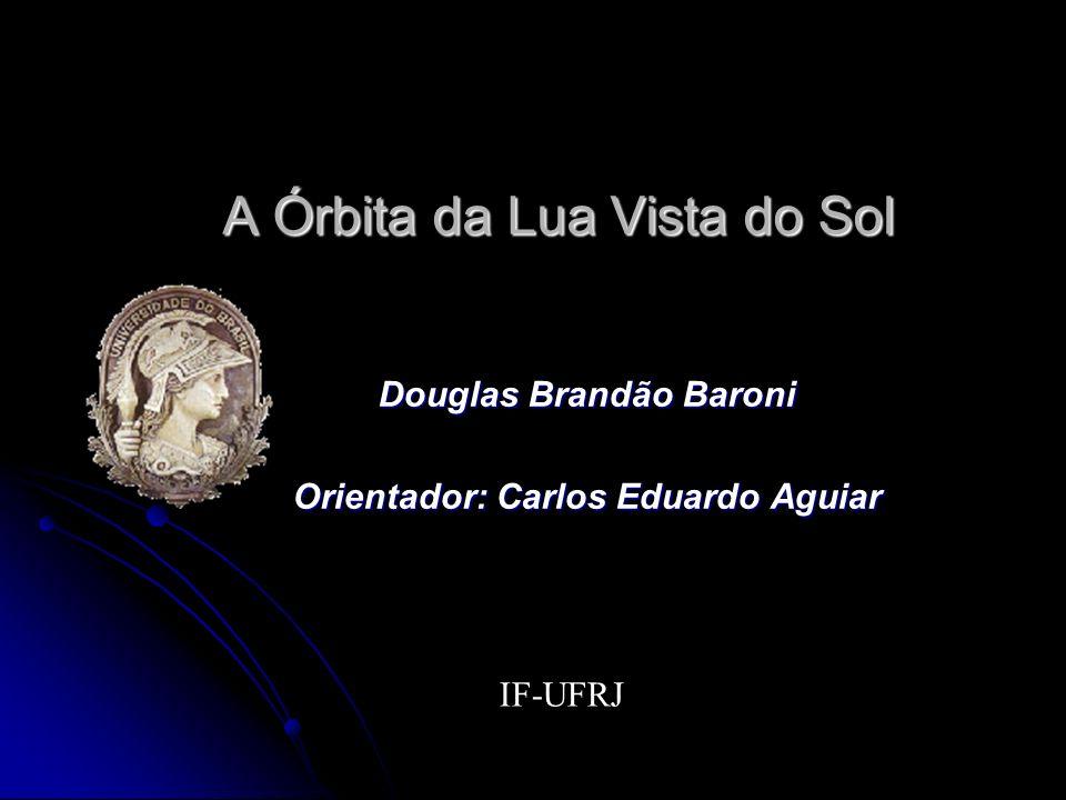 A Órbita da Lua Vista do Sol Douglas Brandão Baroni Orientador: Carlos Eduardo Aguiar IF-UFRJ