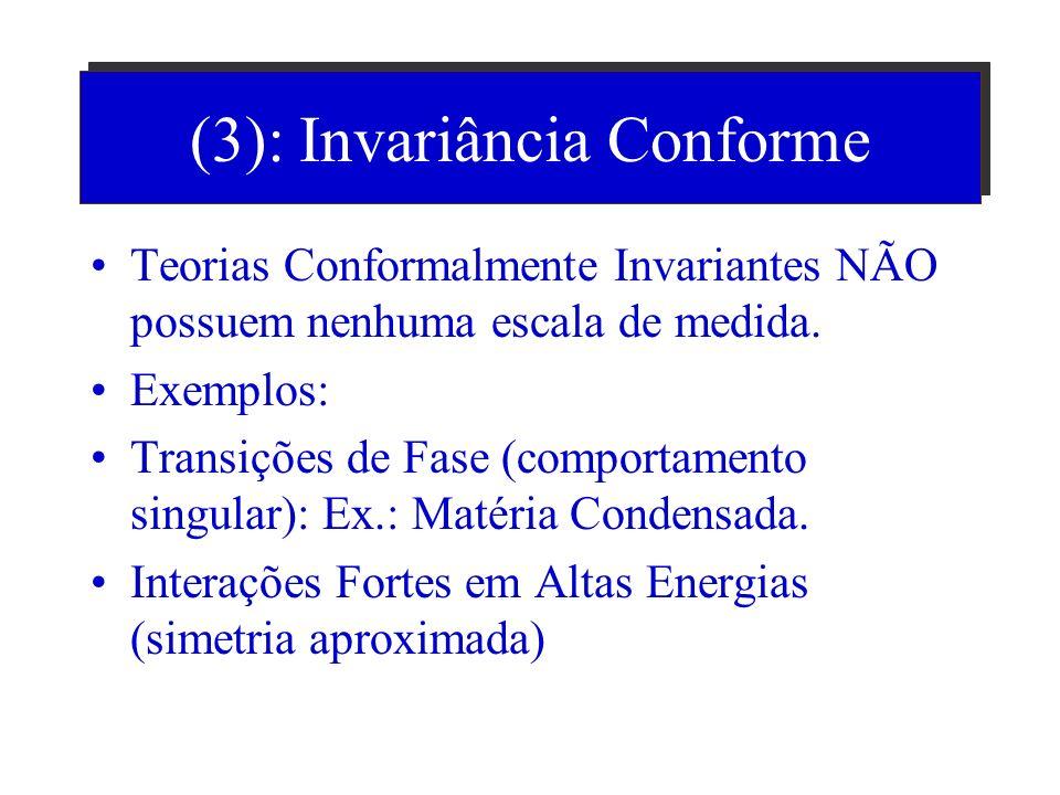 (2): Na conjectura de Maldacena Espaço 10d = AdS(5) x S(5) Fronteira: Minkowski 4d: Hiperesfera de 5d AdS(5) ; S(5)