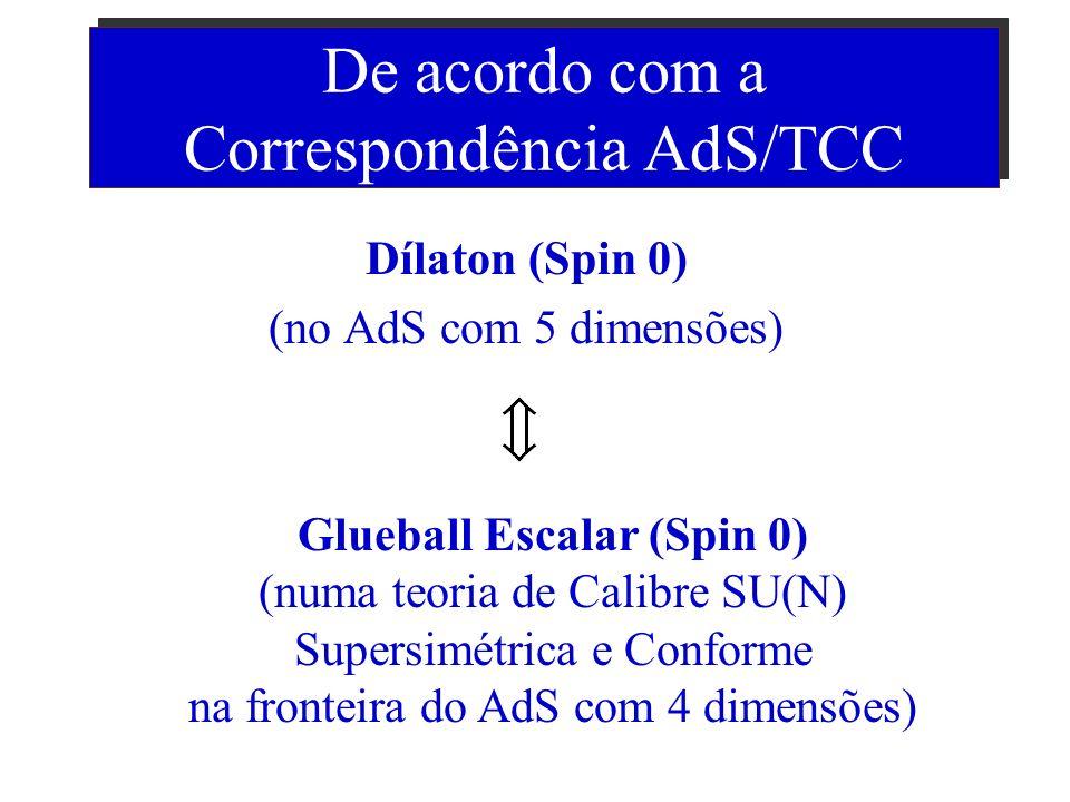 Aproximação: Cordas em Baixas Energias Nesse regime as Cordas são aproximadas por Campos sem massa: Campo Escalar (Spin 0) = Dílaton Campo Tensorial (