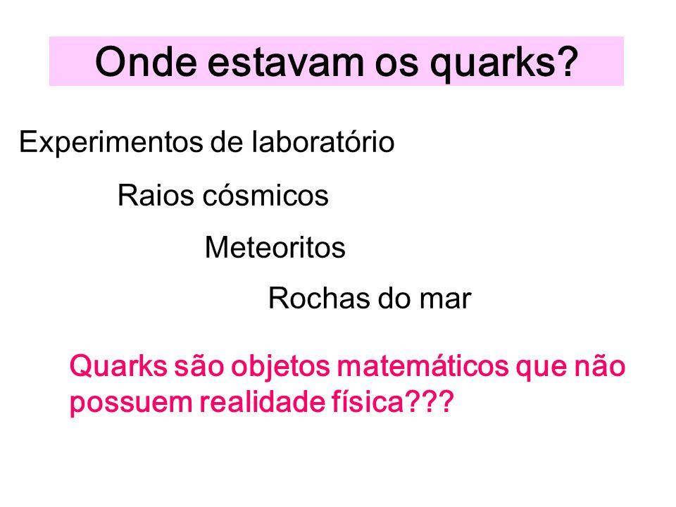 Onde estavam os quarks.
