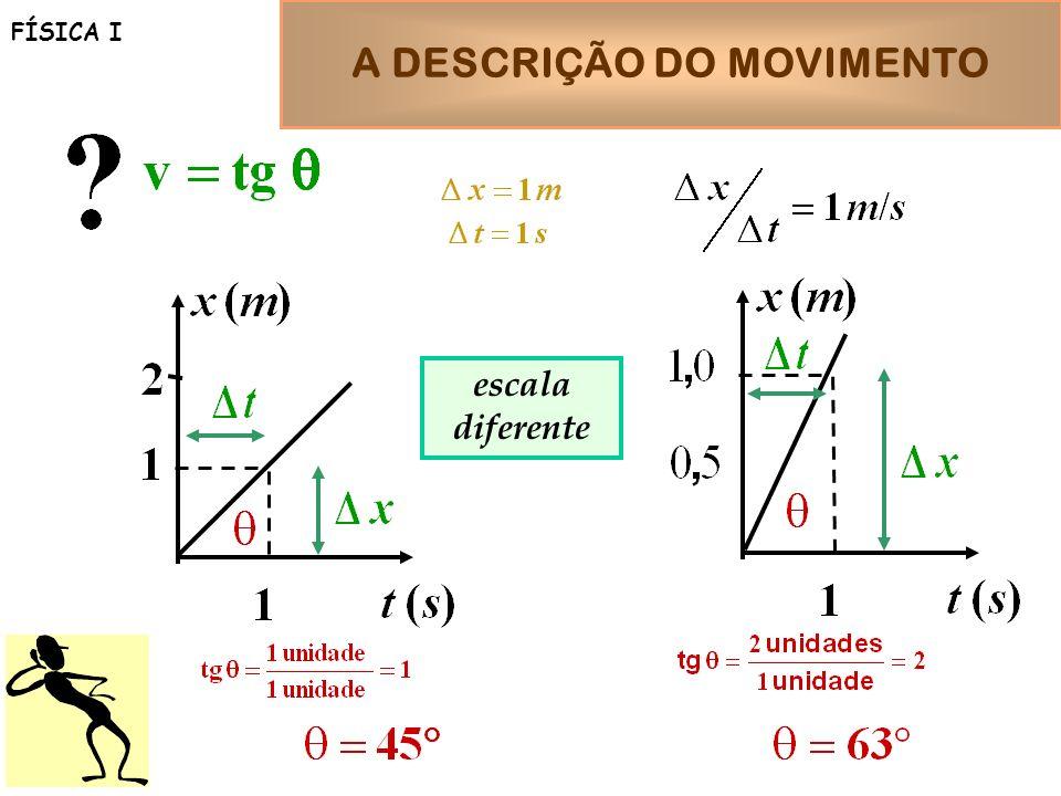 A DESCRIÇÃO DO MOVIMENTO FÍSICA I escala diferente