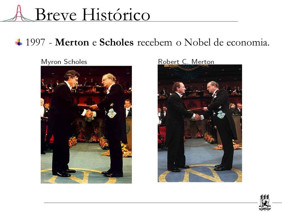 1997 - Merton e Scholes recebem o Nobel de economia.