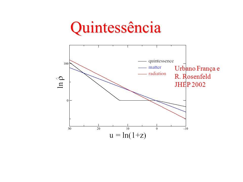 Quintessência Quintessência Urbano França e R. Rosenfeld JHEP 2002