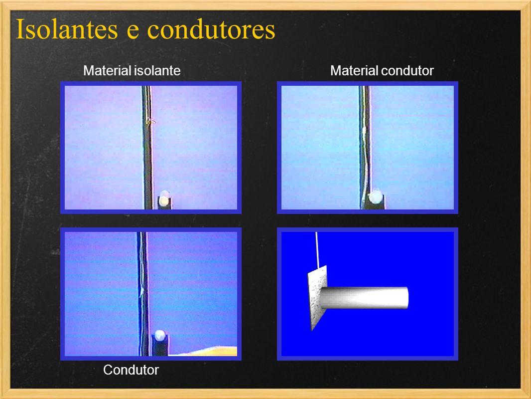 Isolantes e condutores Material isolanteMaterial condutor Condutor