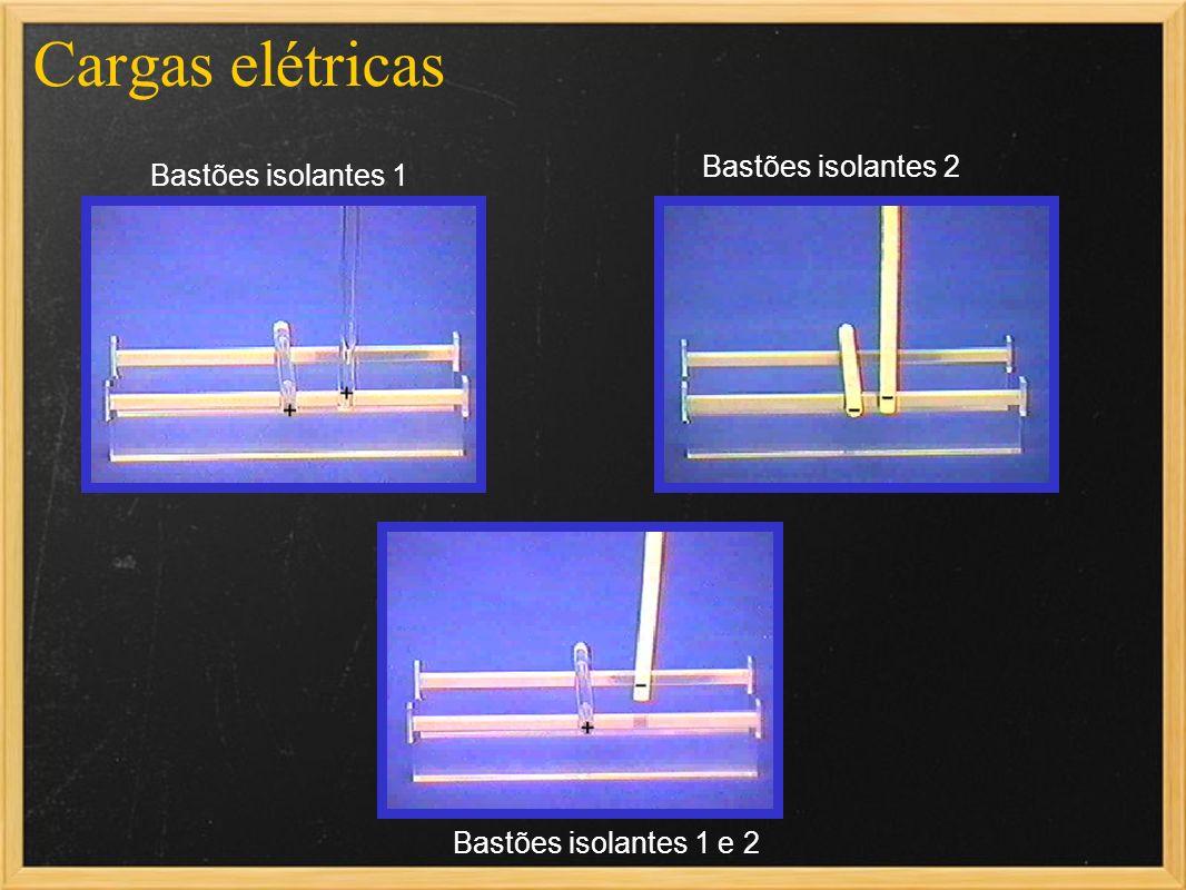 Cargas elétricas Bastões isolantes 1 e 2 Bastões isolantes 2 Bastões isolantes 1