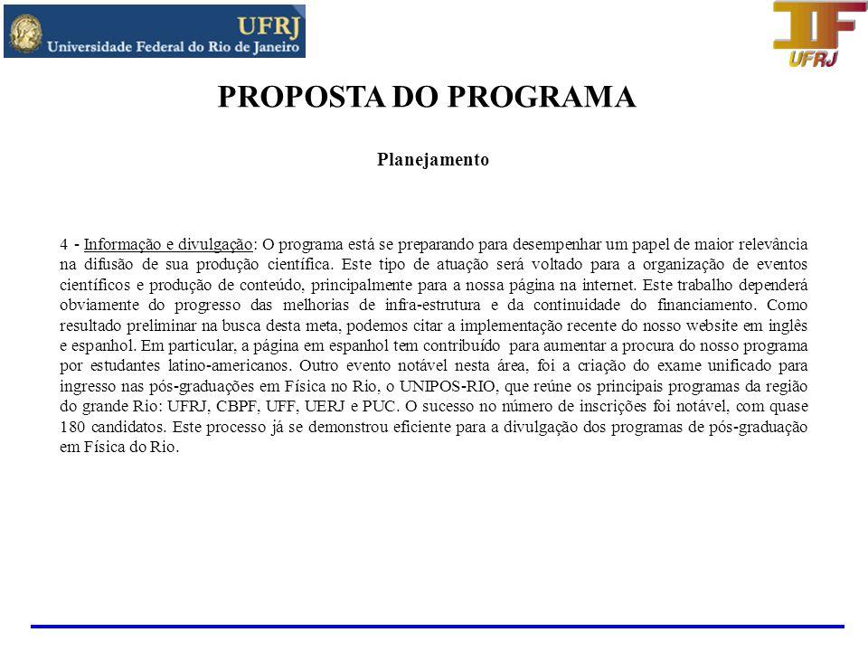 PROPOSTA DO PROGRAMA Infra-estrutura - Laboratórios 1.