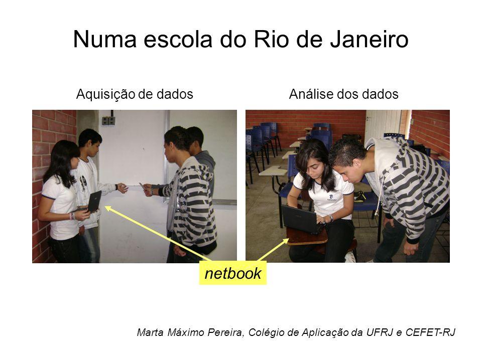 Numa escola do Rio de Janeiro Marta Máximo Pereira, Colégio de Aplicação da UFRJ e CEFET-RJ netbook Aquisição de dadosAnálise dos dados