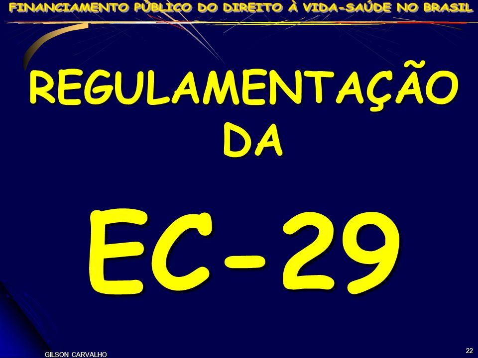 GILSON CARVALHO 22 REGULAMENTAÇÃO DA EC-29