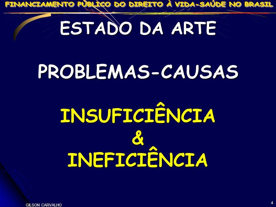 GILSON CARVALHO 4 ESTADO DA ARTE PROBLEMAS-CAUSASINSUFICIÊNCIA&INEFICIÊNCIA
