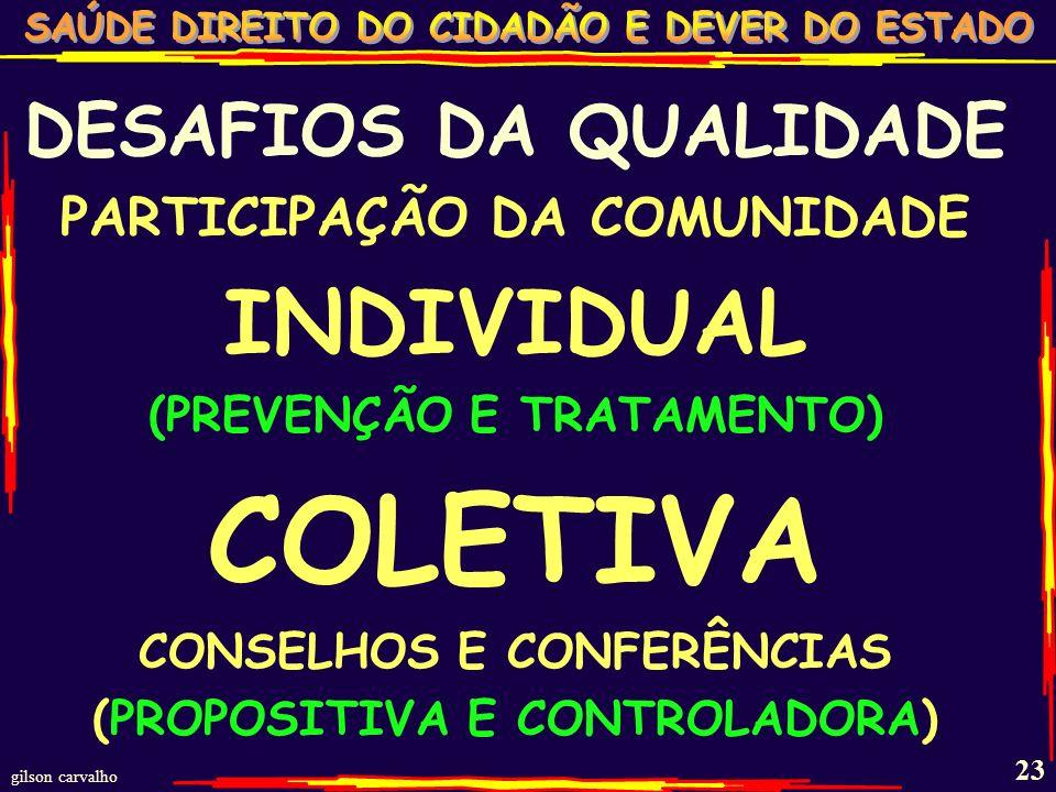 gilson carvalho 22 DESAFIOS DA QUALIDADE EQUILÍBRIO ENTRE EXECUÇÃO PRÓPRIA E TERCEIRIZAÇÃO (COMPLEMENTAR SUBSTITUTIVA)