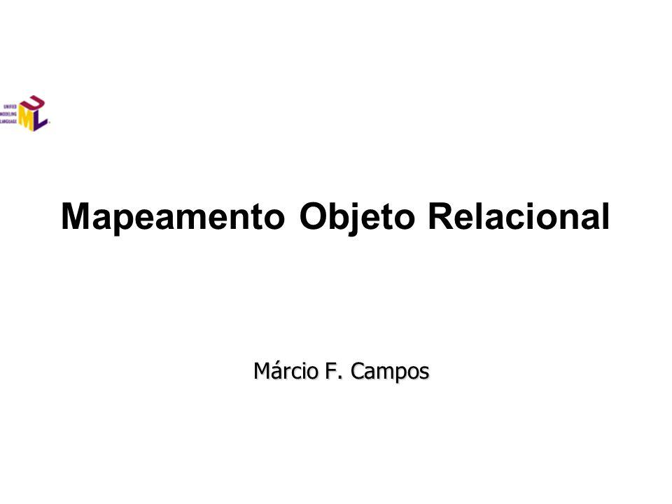 Mapeamento Objeto Relacional Márcio F. Campos