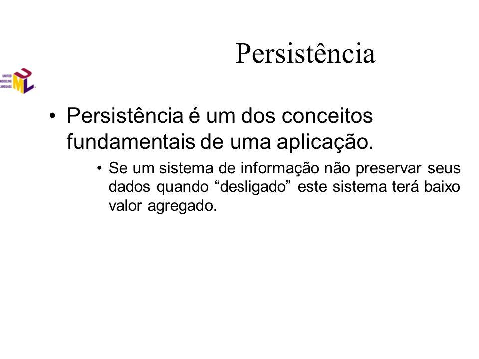 Persistência Persistência é um dos conceitos fundamentais de uma aplicação. Se um sistema de informação não preservar seus dados quando desligado este