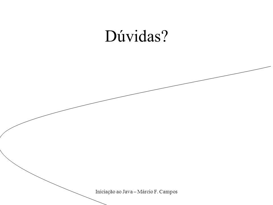 Iniciação ao Java – Márcio F. Campos Dúvidas?