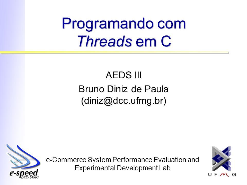 Somando Números (3/4) void *thread_func(void *arg) { ptr_thread_arg argument = (ptr_thread_arg)arg; int i, localsum = 0, endidx; endidx = argument->fromidx + argument->length; for(i=argument->fromidx; i fromidx; i<endidx; i++) { localsum += nums[i]; } sum += localsum; }