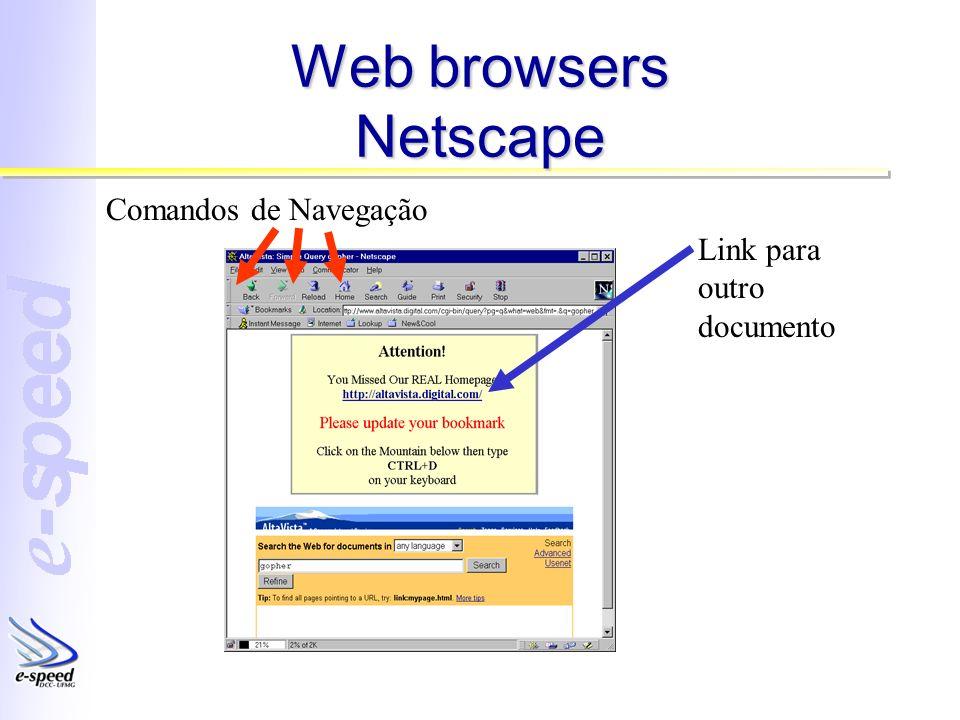 Web browsers Netscape Comandos de Navegação Link para outro documento