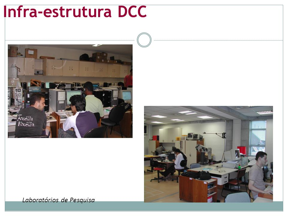 Infra-estrutura DCC Laboratórios de Pesquisa