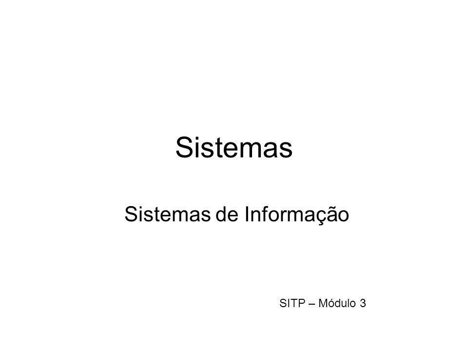 Sistemas Sistemas de Informação SITP – Módulo 3