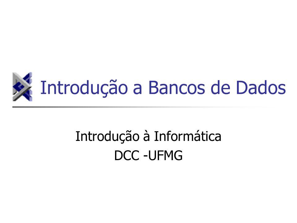 Introdução a Bancos de Dados Introdução à Informática DCC -UFMG
