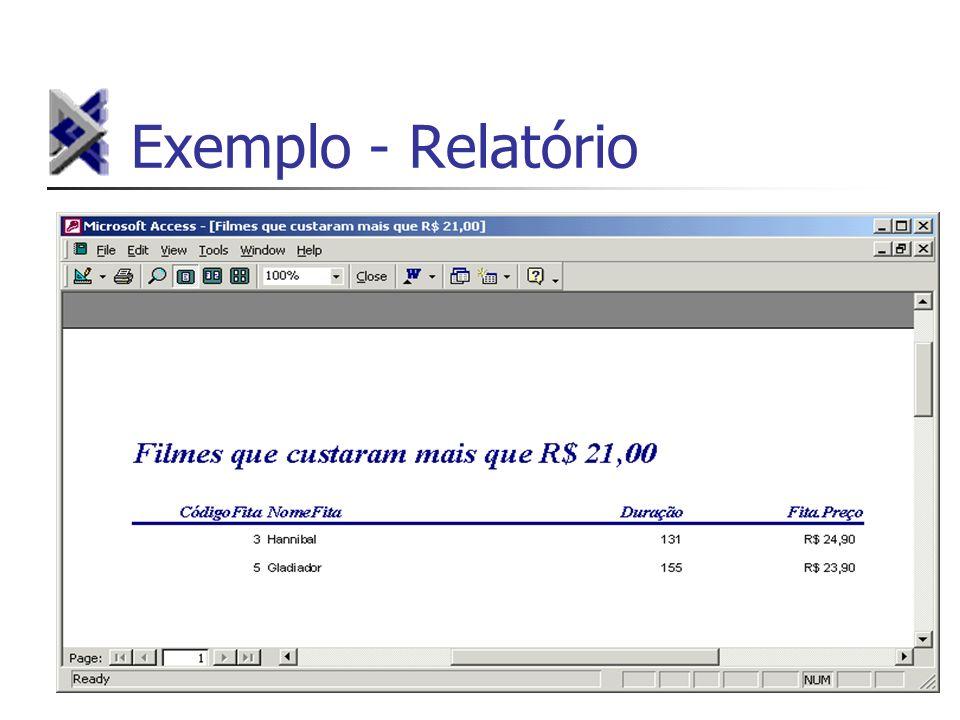 Exemplo - Relatório