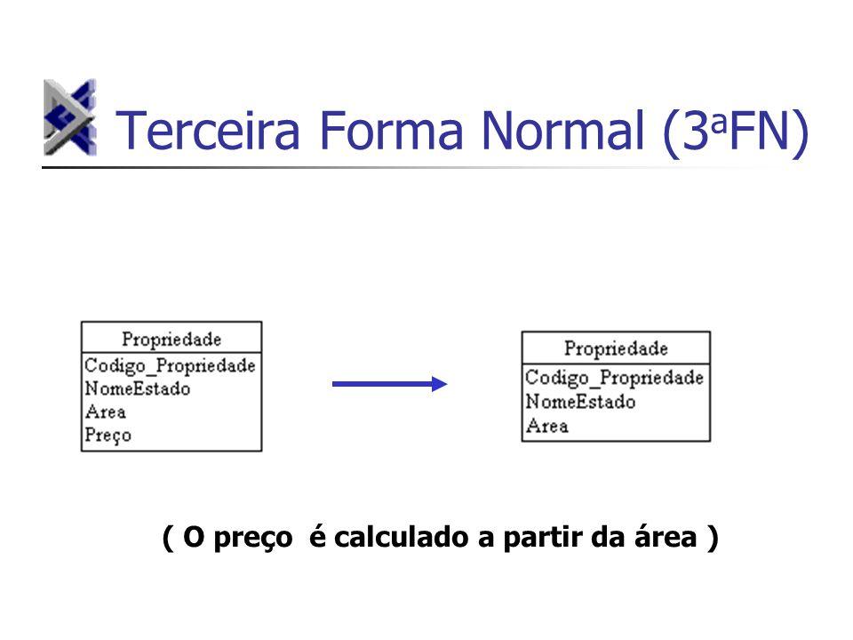 Terceira Forma Normal (3 a FN) ( O preço é calculado a partir da área )
