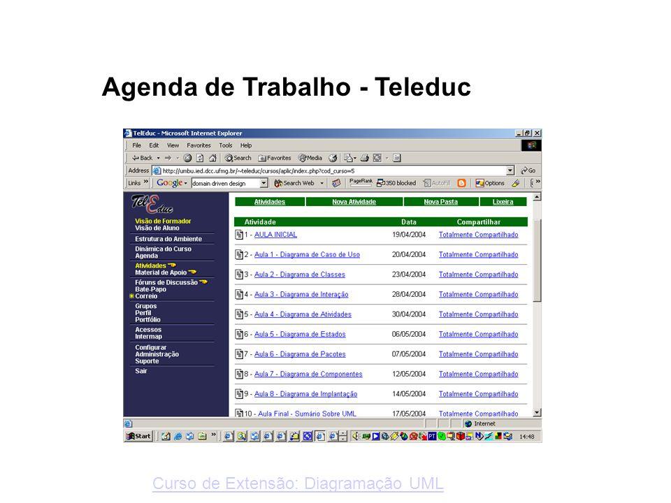 Agenda de Trabalho - Teleduc Curso de Extensão: Diagramação UML