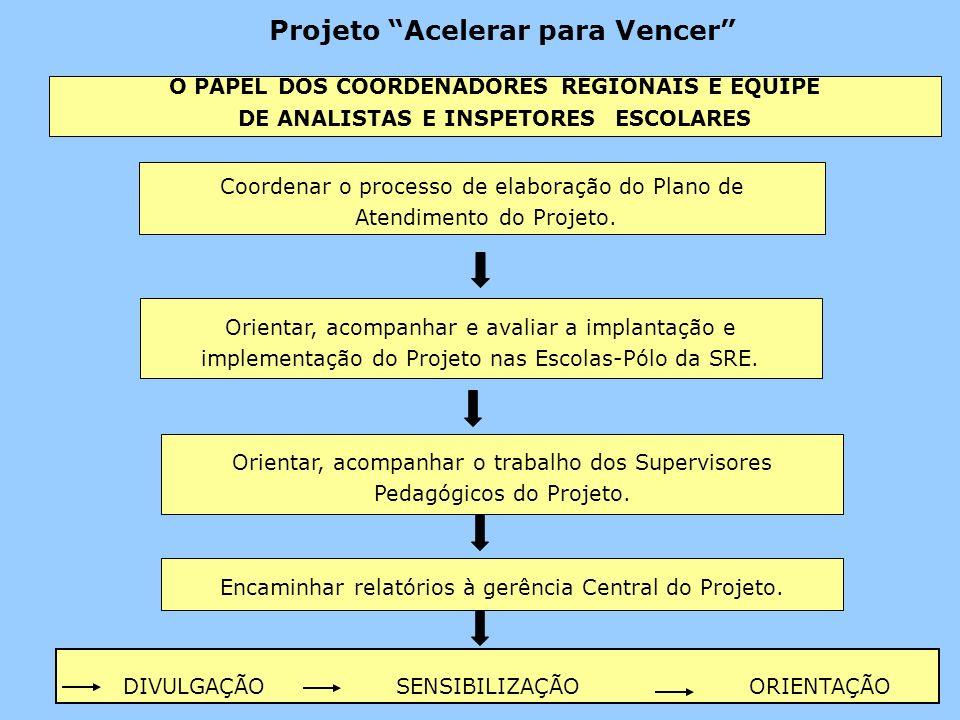 Projeto Acelerar para Vencer Coordenar o processo de elaboração do Plano de Atendimento do Projeto.
