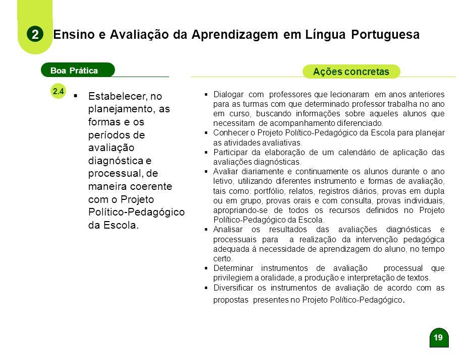 18 Ensino e Avaliação da Aprendizagem em Língua Portuguesa 2 Boa Prática Ações concretas 2.3 Desenvolver as capacidades de reconhecer e apreciar os us