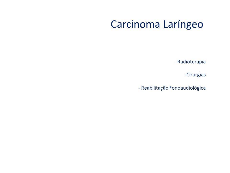 Carcinoma Laríngeo -Radioterapia -Cirurgias - Reabilitação Fonoaudiológica